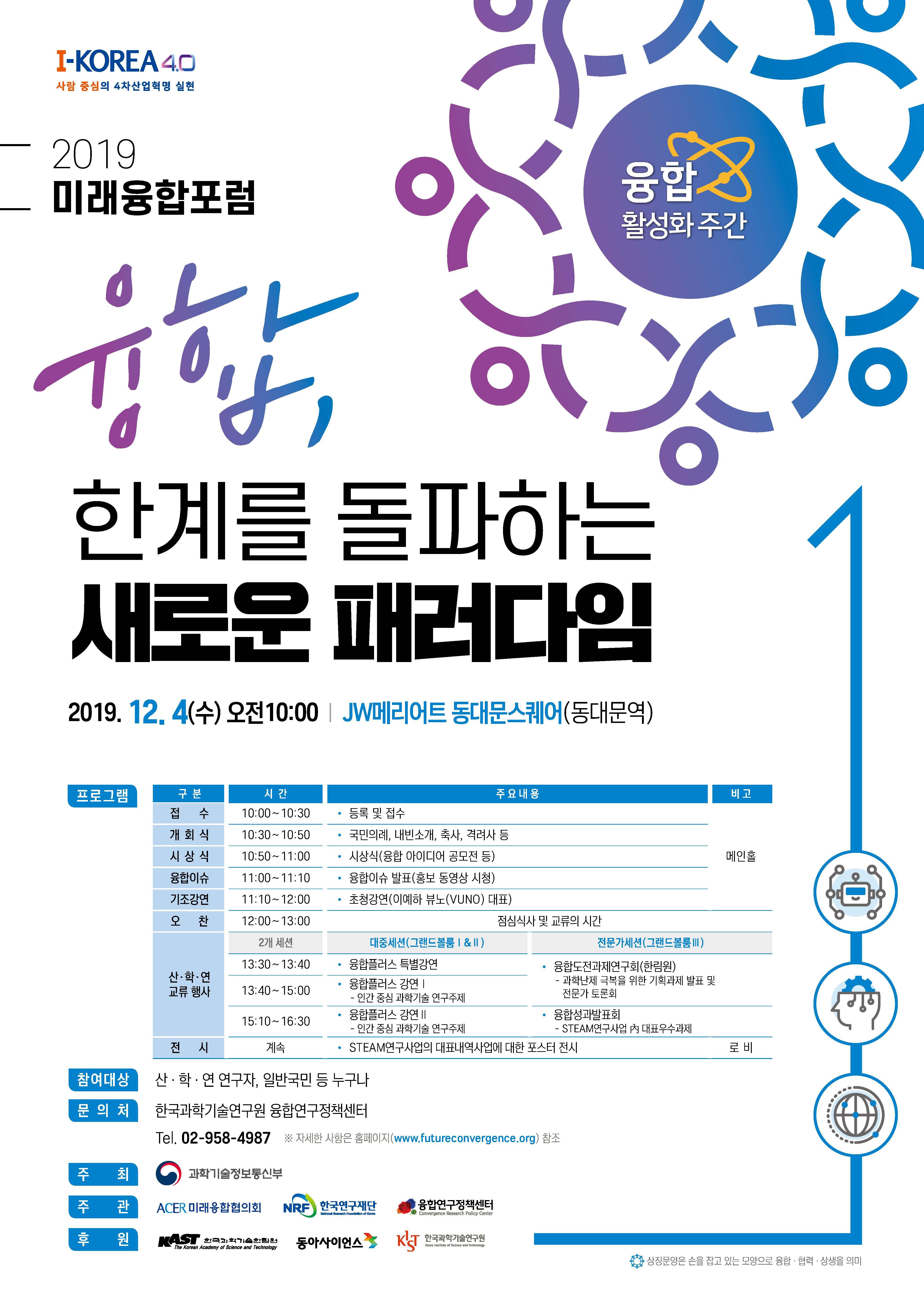 과학기술정보통신부_2019 미래융합포럼(12월4일)_포스터.jpg