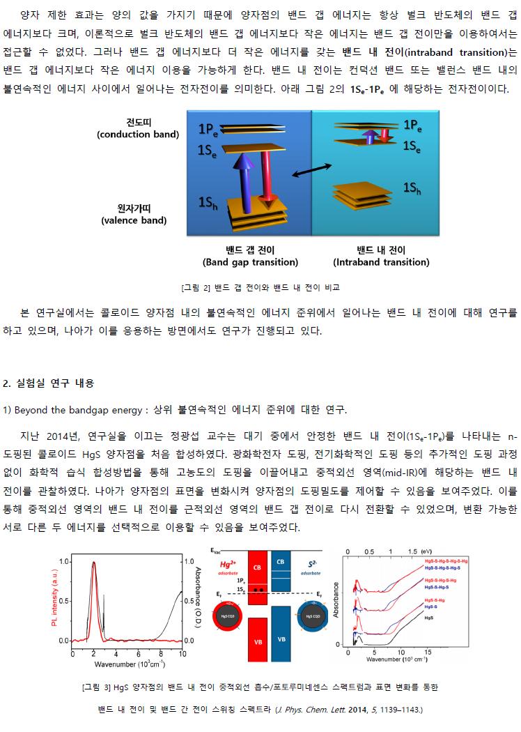 교수연구 한눈에 보기 정광섭교수 나노분광분석연구실 소개글 - 이미지2
